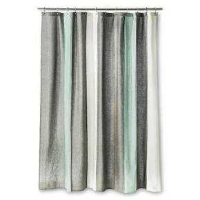 Threshold™ Blanket Stripe Shower Curtain - Gray/White : Target