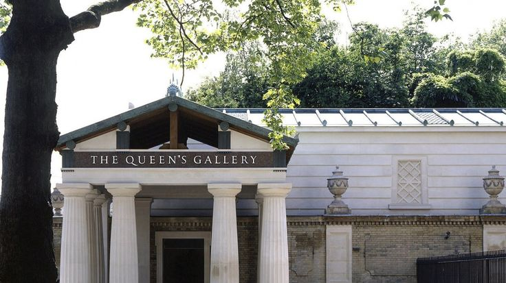 The Portico entrance to The Queen's Gallery, Buckingham Palace