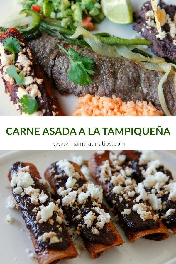 Enjoy one of the most cherished Mexican dishes ever, traditional carne asada a la tampiqueña, or Carne Asada Tampiqueña, the rumored favorite of none other than Princess Grace of Monaco. Learn about its origins, its variations and how to make it at home Traditional Mexican Dishes, Salmon With Avocado Salsa, Mexican Dessert Recipes, Comida Latina, Roasted Meat, Party Food And Drinks, Latin Food, Enchiladas, Gastronomia