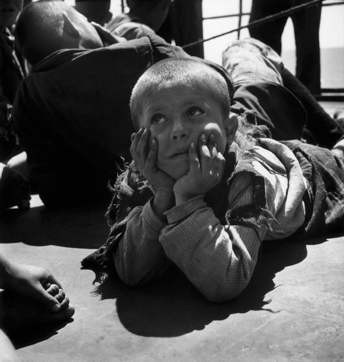 Greece, post WW2. Evacuation of children from the civil war areas. ~ David Seymour