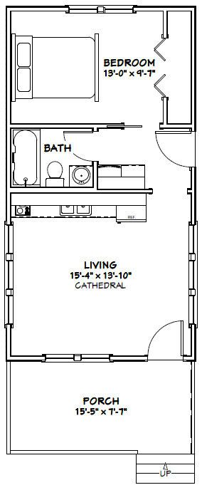 16x30 tiny house 16x30h3a 480 sq ft excellent for 16x30 house plans