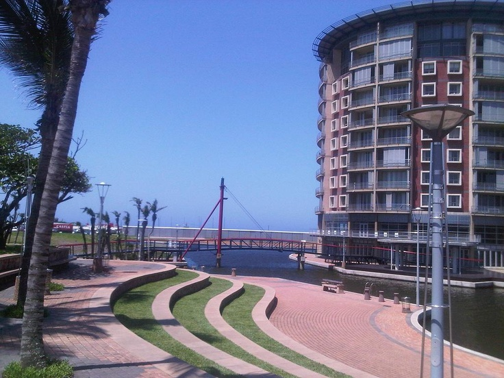 The Point Waterfront & canals near the Durban harbour entrance