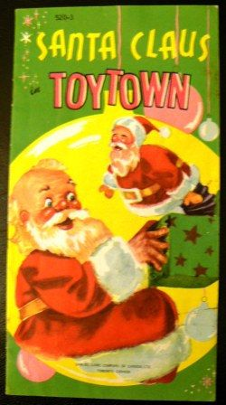 vintage Christmas  SANTA CLAUS in TOYTOWN by ThriftyDiversions, $12.00