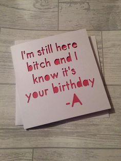 hübsche kleine Lügner Geburtstagskarte Karte von AprilDaysDesigns