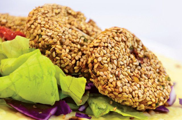 Sesame-bean burgers. High in fibre, gluten-free and perfect for our vegan friends. Get the recipe here...