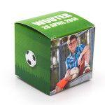 Communie kubus doosjes zelf maken voetbal