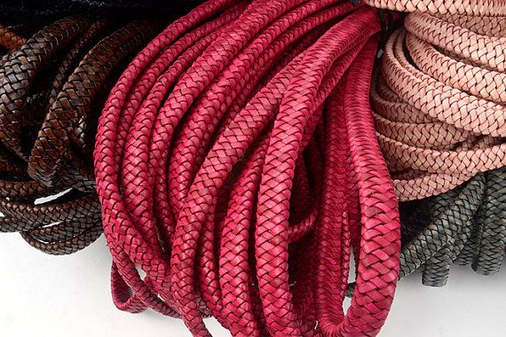 12mm5mm Leather Cord vintage Leather Cord supplies Wrap by VACHETA