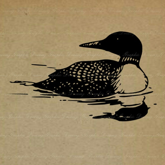 INSTANT DOWNLOAD  No316KM Common Loon  Digital by GraphicDreamz, £0.60