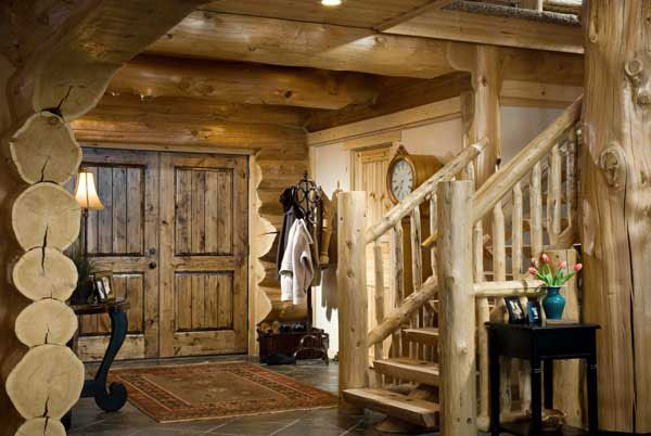 front doorThe Doors, Dream Cabin, Barn Doors, Log Cabins, Barns Doors, Logs Logs, Log Home Interiors, Cabin Fever, Logs Cabin
