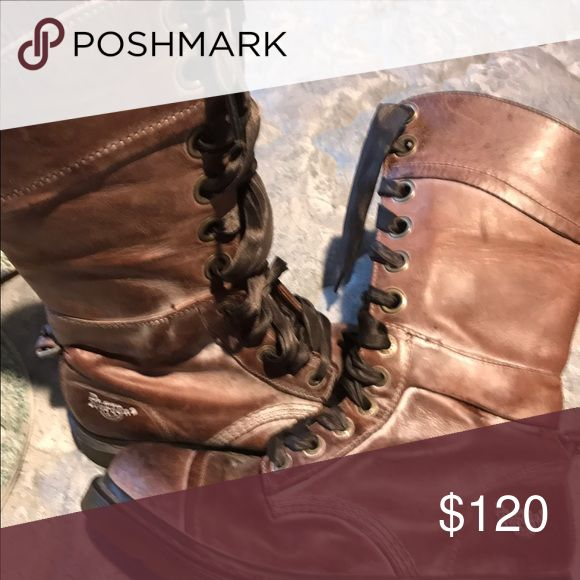 Doc martins -ladies size 10 Wear up or fold down very cool boots doc martins Shoes Lace Up Boots