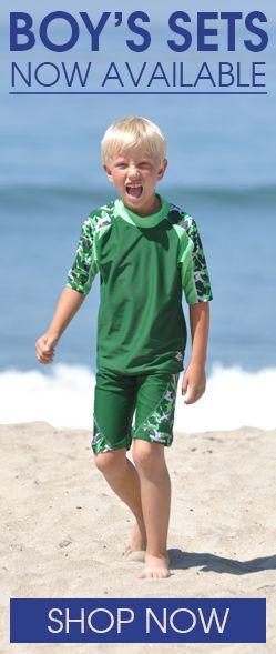 Shop for Stylish UV Sun Protective Rashguard Shirts and Shorts Sets for Boys by www.tugasunwear.com