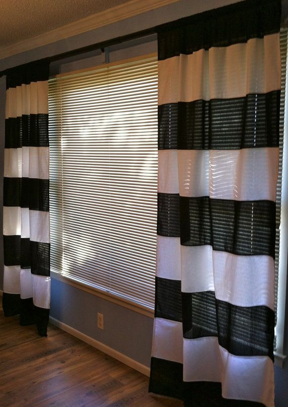 black and white horizontal striped curtains by - Grey And White Striped Curtains. Curtains Whote Curtains