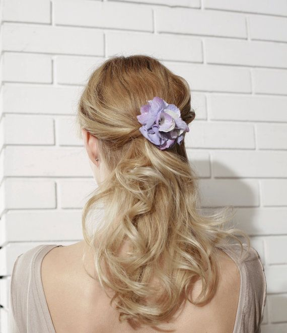 Violet Pink Flower Hair Pin Bridal Hair Clips by BIBICCO on Etsy, $18.00