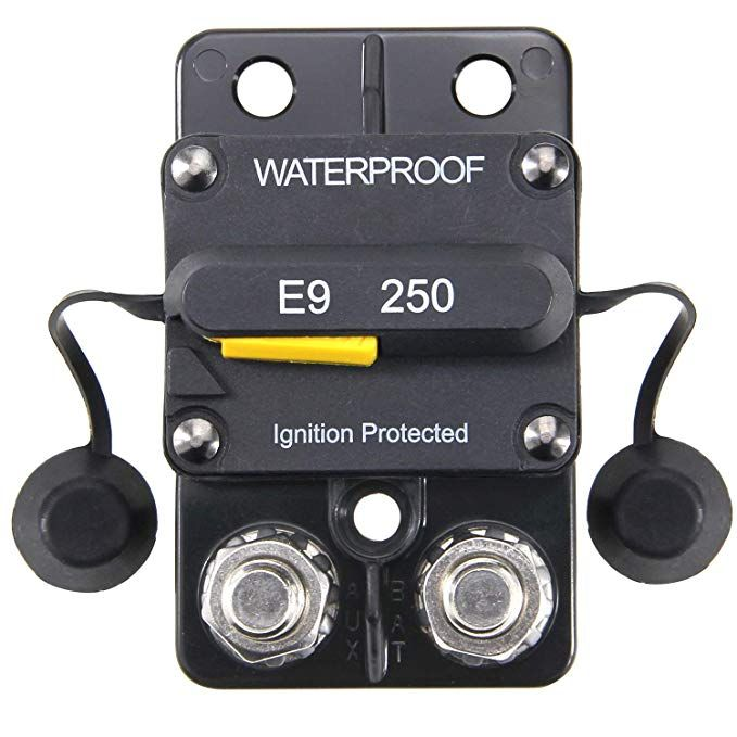 Zookoto 12 48v Dc 250a Surface Mount Circuit Breaker With Manual Reset Waterproof 250amp No Manual Button Disconnect Review Waterproof Circuit Breakers