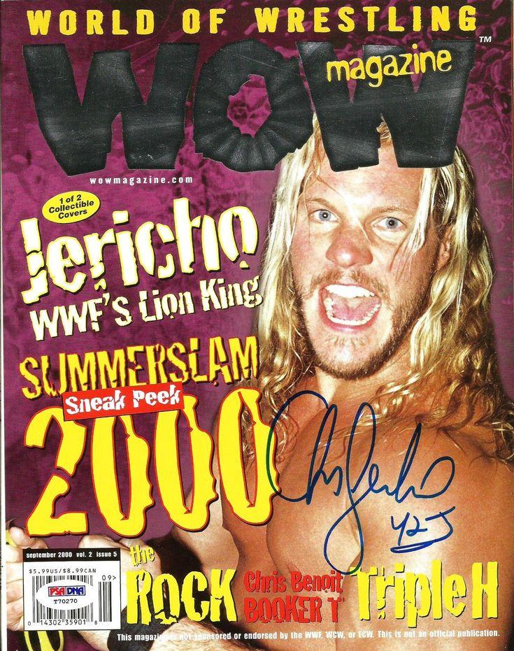 Chris Jericho Signed WOW World Of Wrestling Auto Magazine PSA/DNA COA - http://bestsellerlist.co.uk/chris-jericho-signed-wow-world-of-wrestling-auto-magazine-psadna-coa/