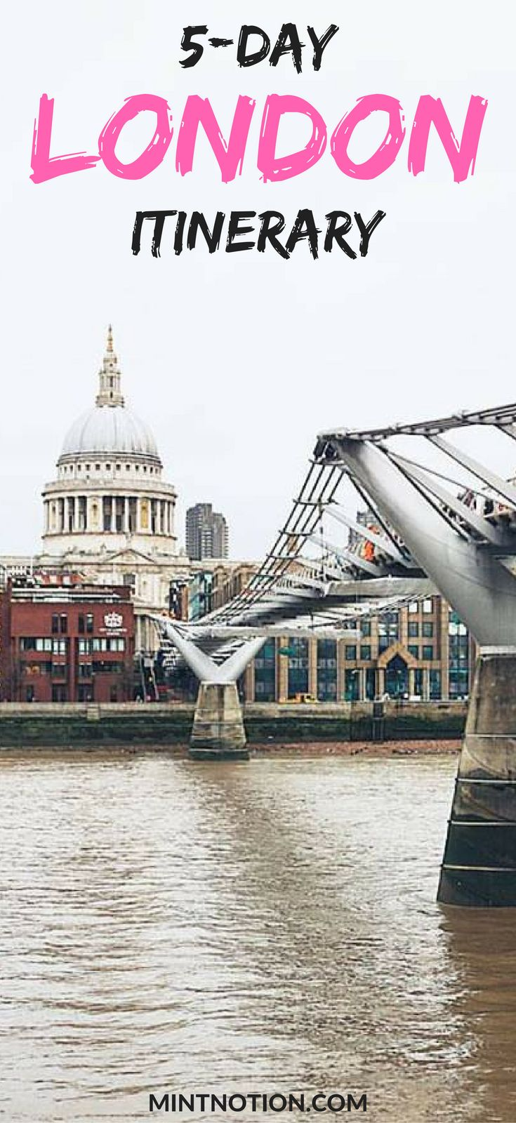 Visiting London for the first time? This 5-day itinerary is perfect for those who want to see the top London attractions on a budget. It includes the city's popular museums, afternoon tea, Big Ben, the London Eye, Buckingham Palace, and more! #londontrip #londonitinerary