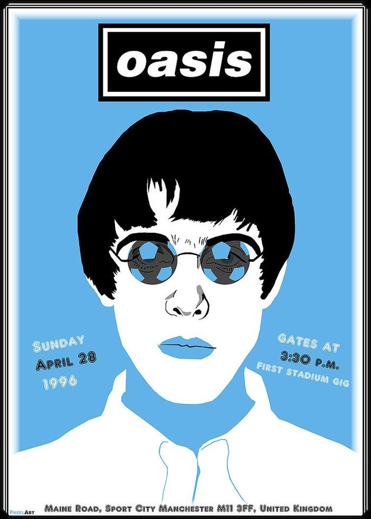 Oasis Tour poster £8.00