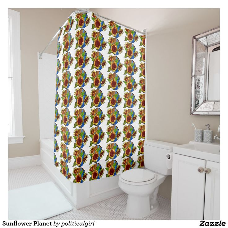 Sunflower Planet Shower Curtain