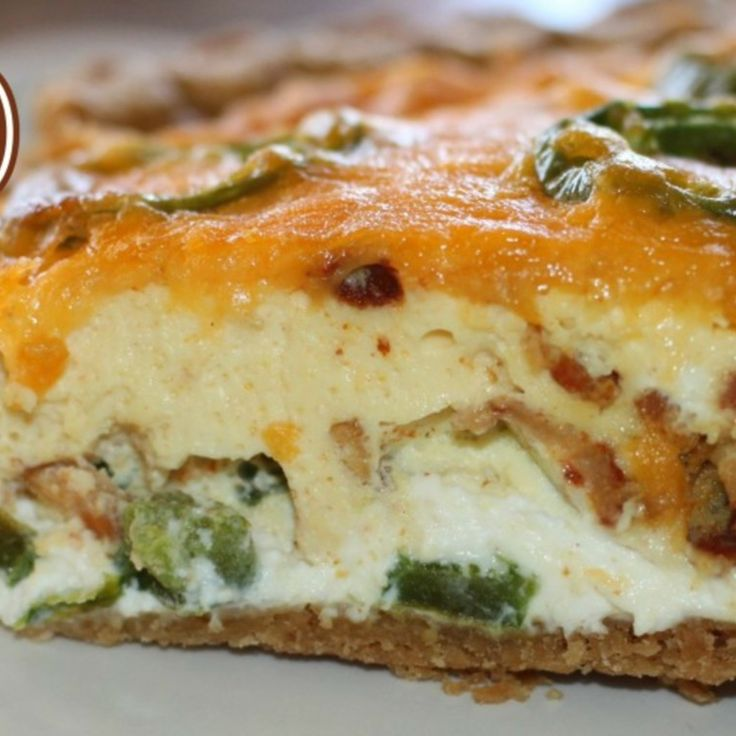 Bacon Jalapeno Popper Quiche | Breakfast Club | Pinterest