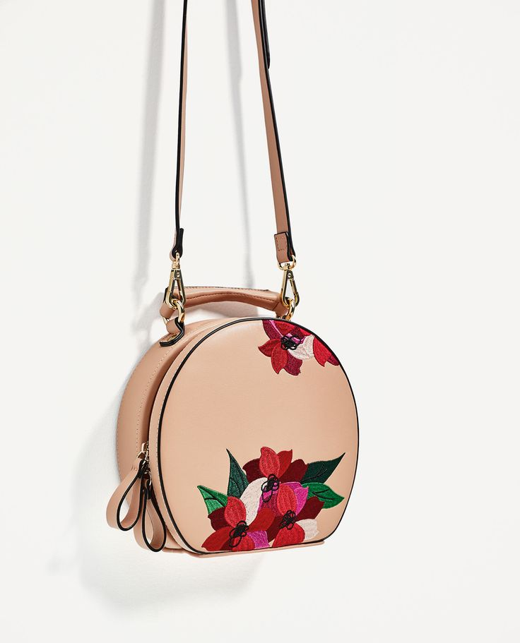 ZARA - COLLECTION AW/17 - EMBROIDERED OVAL CITY BAG