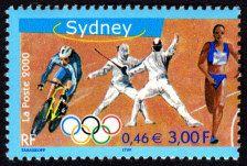 Timbre sur les Jeux Olympiques de Sidney, 2000, France #cyclisme