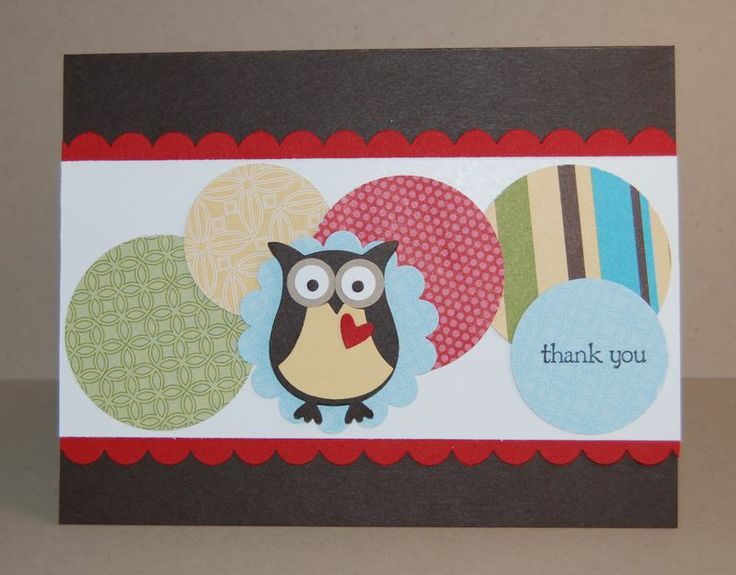 Delightful Card Making Ideas Owls Part - 13: 2-Step Owl Punch Teacher Card