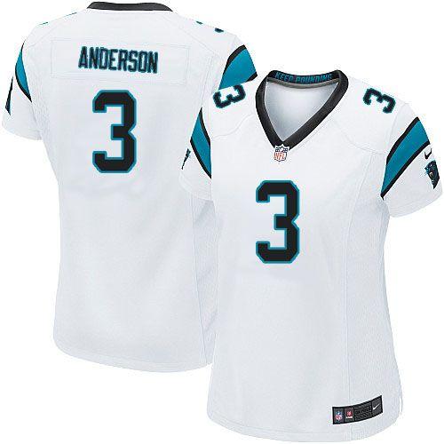 Women Nike Carolina Panthers #3 Derek Anderson Limited White NFL Jersey Sale