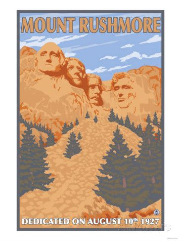 Mount Rushmore National Park, South Dakota Art Print