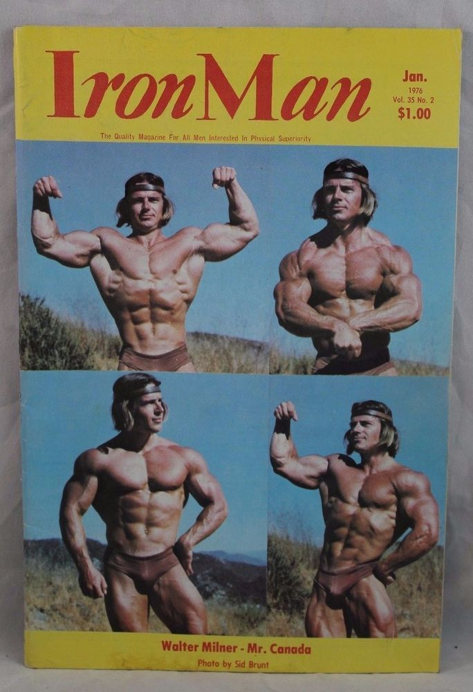 IRONMAN Body Building Muscle magazine WALTER MILNER/ ED CORNEY  1-76, Vol 35 #2