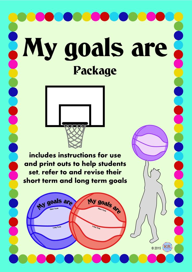My Goals Are... Goal Shooting Basketballs for students to set short term and long term goals shooting towards the future... by KR Learning