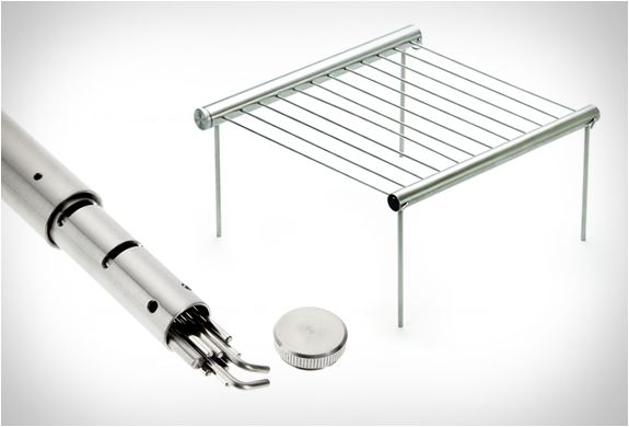 GRILLIPUT | PORTABLE CAMPING GRILL Grilliput is a lightweight, portable grill that can be easily broken down to stow compactly.