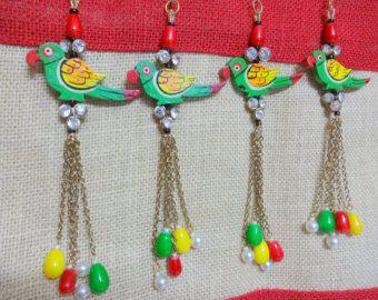 Cowrie Tassel Pom Pom Tassel Chain Tassel Bell by uDazzleSupplies