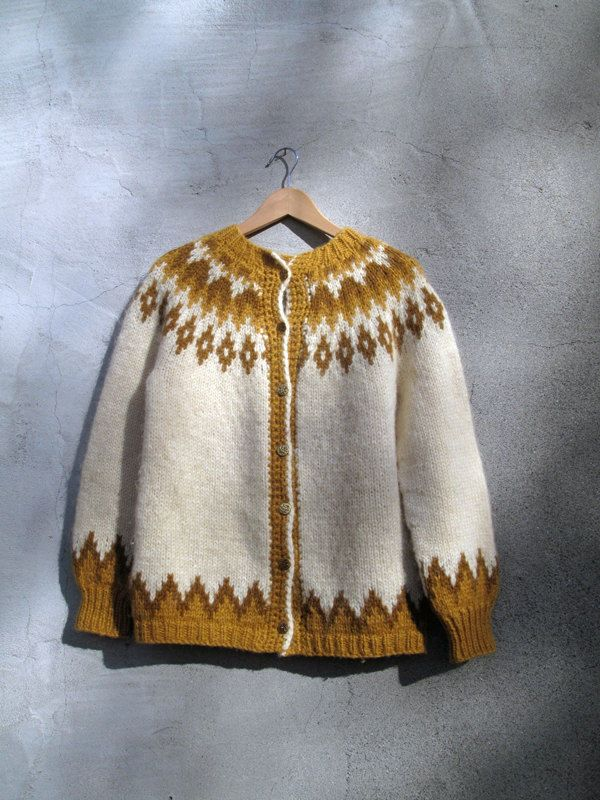 Vintage Nordic Icelandic Norwegian Sweater Classic Adorable Wool Small Medium in Sweaters | eBay
