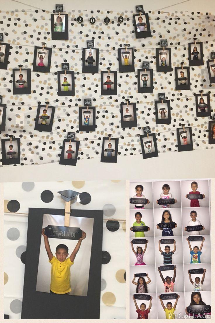 Kindergarten graduation wall... When I grow up