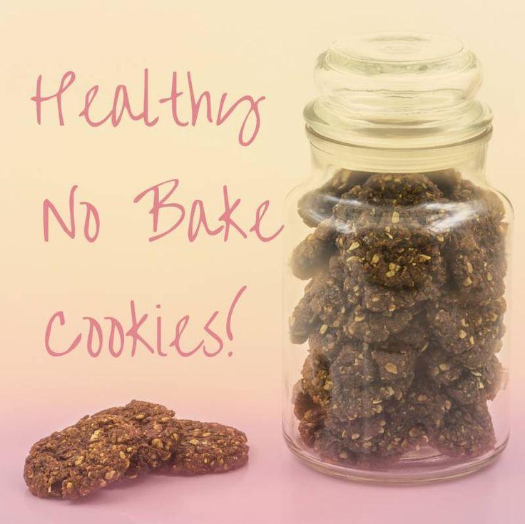 Healthy No Bake Peanut Butter Cookies!