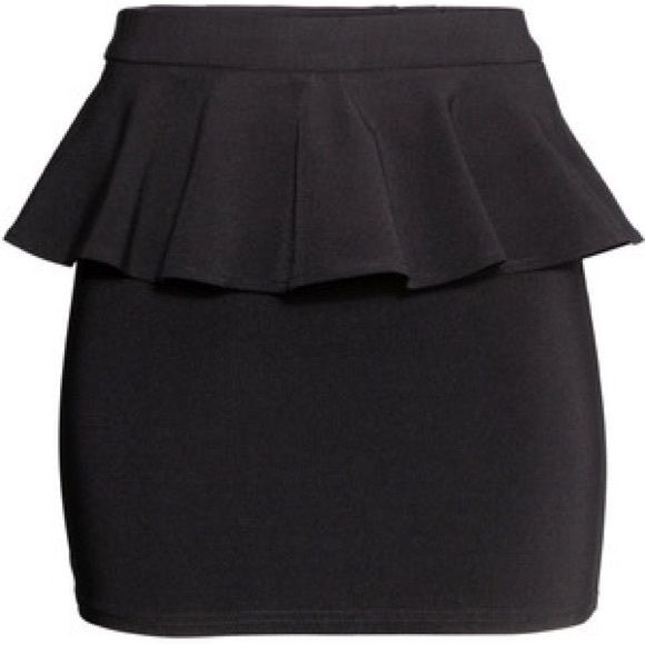 Black Peplum Skirt Great basic skirt. Perfect for work. Simple and sophisticated. H&M Skirts