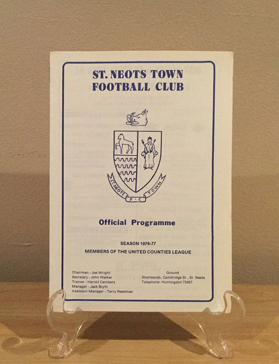 St Neots Town Football Programme 1976/77