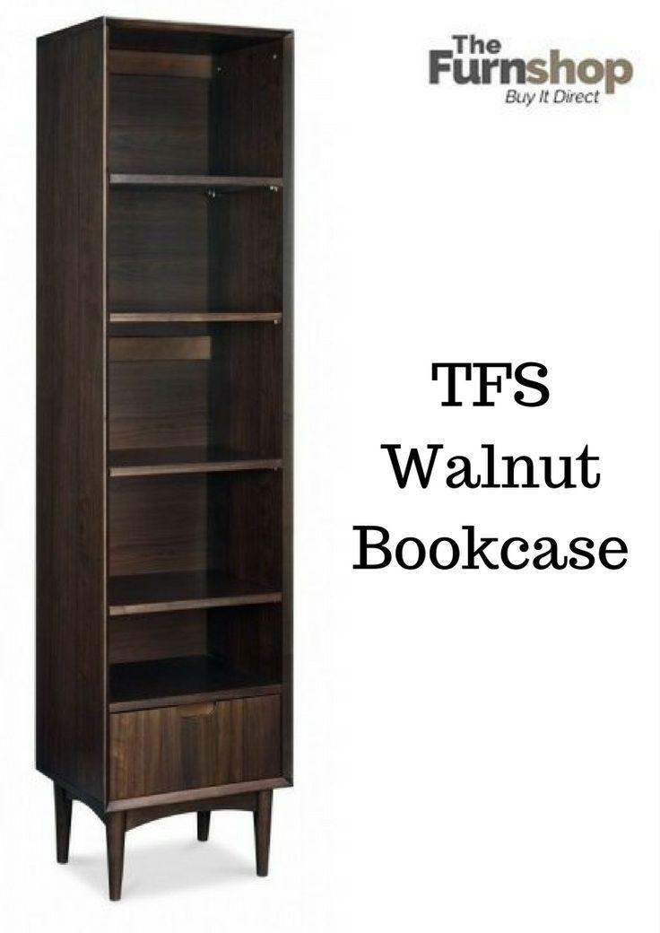 Bentley Designs Oslo Walnut Bookcase - Narrow #TFSBookcase #Bookcase-Narrow