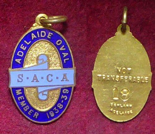 1938-39-South-Australian-Cricket-Association-Members-Badge