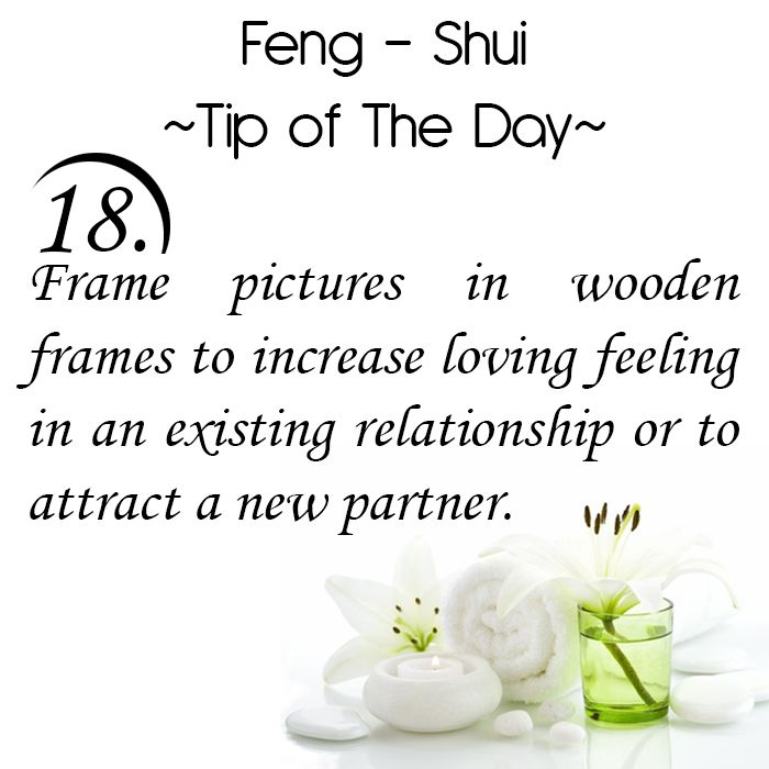 Feng Shui Tip of the Day: 18. Frame pictures in wooden frames to increase loving feeling in an existing relationship or to attract a new partner. Get the Vastu experts advice for your home from renowned Vastu Expert Ms. Manisha Koushik.
