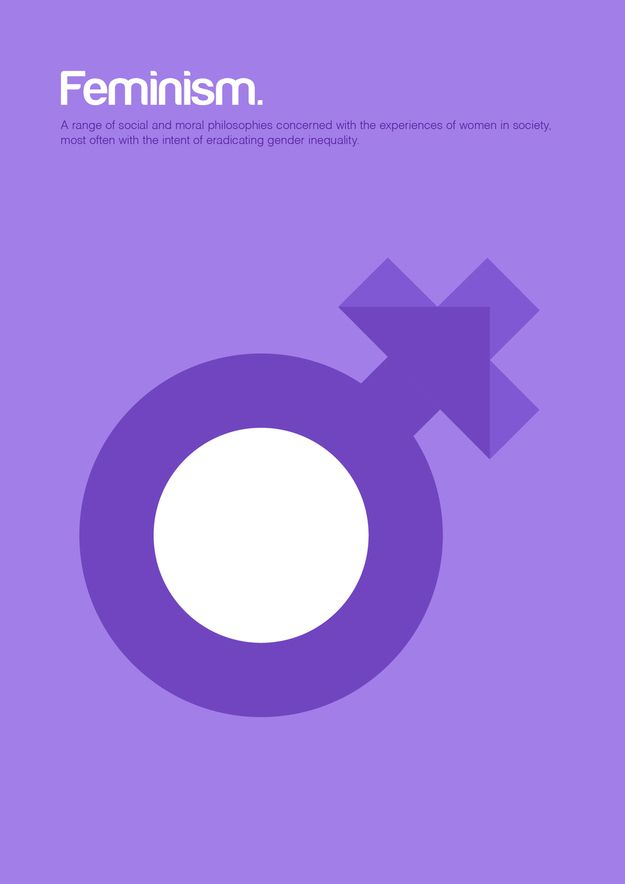 #Feminism / 18 #Minimalist Posters For Philosophy Fans by Graphic artist Genis Carreras via @BuzzFeed #design #posterart