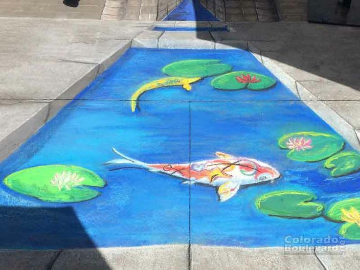 this is my friend Cindy's chalk art at the Pasadena Chalk Festival 2014