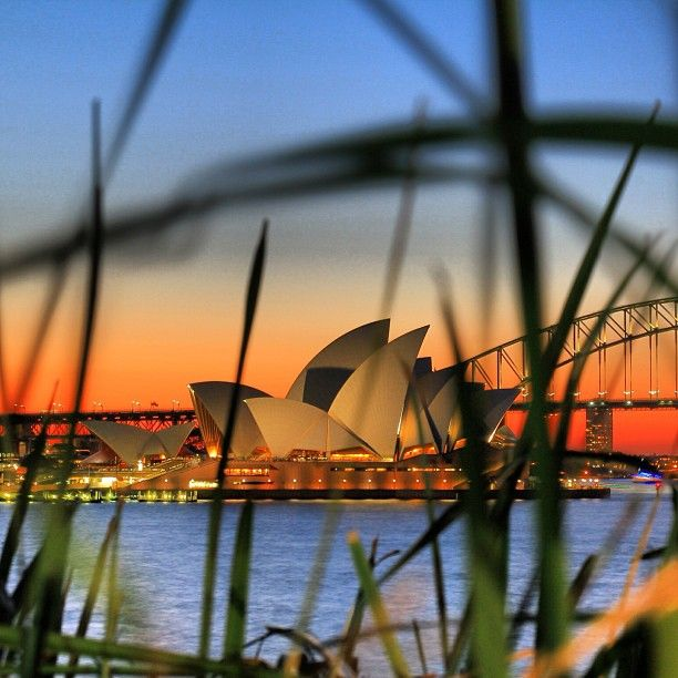 Beautiful sunset over #Sydney #Australia by junyi0812 (instagram)