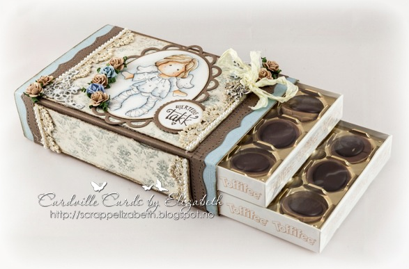 Cardville-Elizabeths Kreative Sider: Tutorial: Decorare una scatola di cioccolatini