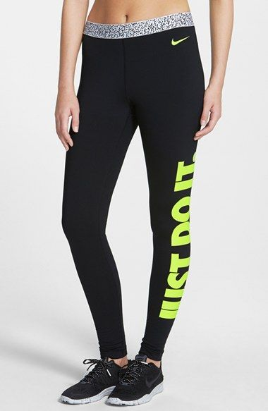 Free shipping and returns on Nike 'Pro Hyperwarm' Mezzo Compression Tights at Nordstrom.com. Soft, thermal Dri-FIT jersey tights wick away moisture while locking in heat to keep you warm and comfortable in cold-weather training sessions. A mezzo-printed waistband, bold hue and vibrant 'Just Do It' slogan draw flattering attention.