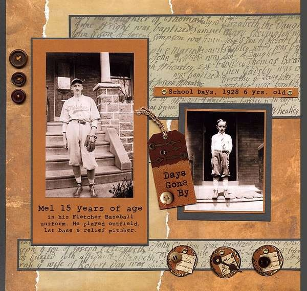 Days Gone By - Family heritage scrapbook