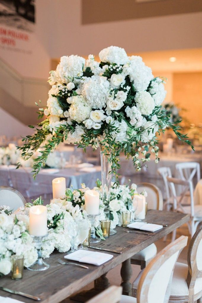 Organic simple elegant romantic wedding head table