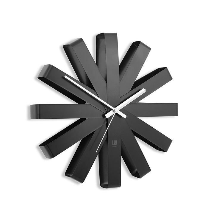 Discover the Umbra Ribbon Wall Clock - Black at Amara