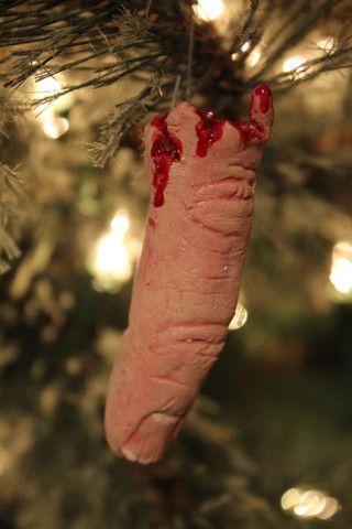 Horror Decor - Severed Finger Ornament