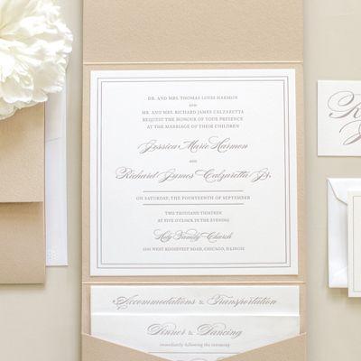 Letterpress Wedding Invitations Classic and Elegant Letterpress